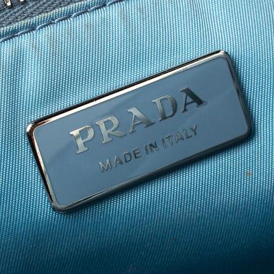 Prada Black Nylon and Leather Etiquette Studded Flap Shoulder Bag 358072 - 7