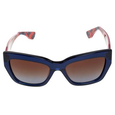 Miu Miu Blue/Red Gradient SMU01P Cat Eye Sunglasses 357436 - 1