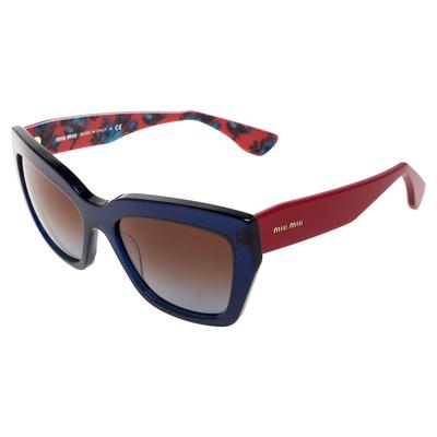 Miu Miu Blue/Red Gradient SMU01P Cat Eye Sunglasses 357436 - 2