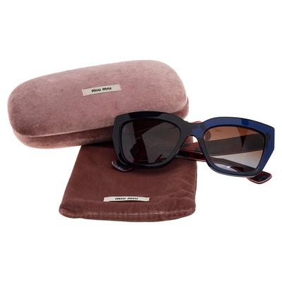 Miu Miu Blue/Red Gradient SMU01P Cat Eye Sunglasses 357436 - 6