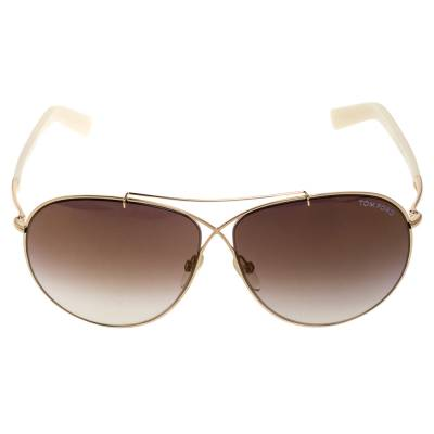 Tom Ford Brown Gradient Eva TF374 Aviator Sunglasses 357435 - 1