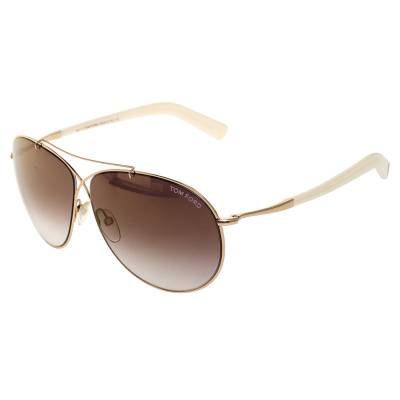 Tom Ford Brown Gradient Eva TF374 Aviator Sunglasses 357435 - 2