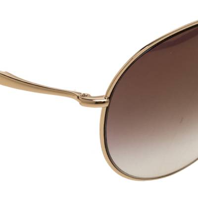 Tom Ford Brown Gradient Eva TF374 Aviator Sunglasses 357435 - 3