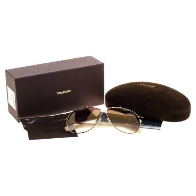 Tom Ford Brown Gradient Eva TF374 Aviator Sunglasses 357435 - 6