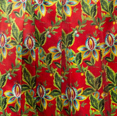 Gucci Multicolor Floral Pleated Silk Skirt M 359845 - 3
