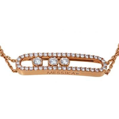 Messika Move Classic Diamond 18K Rose Gold Bracelet 359847 - 1