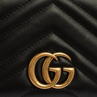 Gucci Black Leather Mini Marmont Chain Bag 360098 - 4