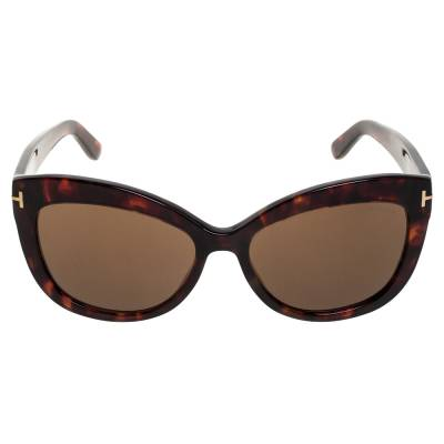 Tom Ford Brown Tortoise Polarized Alistair Cat Eye Sunglasses 357424 - 1