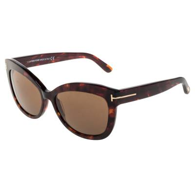 Tom Ford Brown Tortoise Polarized Alistair Cat Eye Sunglasses 357424 - 2