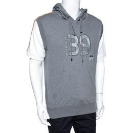 Dolce&Gabbana Grey Mélang Cotton Italia 39 Short Sleeve Hoodie L 359654