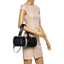 Bally Black Nylon and Leather Boston Bag 360076