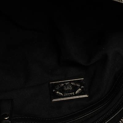 Bally Black Nylon and Leather Boston Bag 360076 - 8