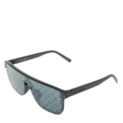 Louis Vuitton Black Monogram LV Waimea Shield Sunglasses 358281 - 2