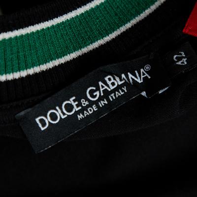 Dolce&Gabbana Black DG Mania Print Cotton Jersey Crew Neck T Shirt M 360063 - 4