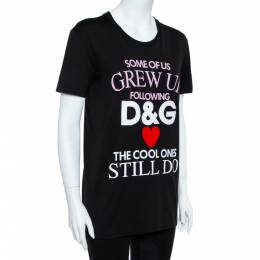 Dolce&Gabbana Black Cotton The Cool Ones T-Shirt S 360062