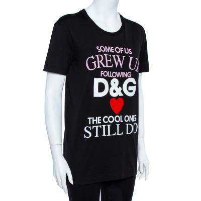 Dolce&Gabbana Black Cotton The Cool Ones T-Shirt S 360062 - 1