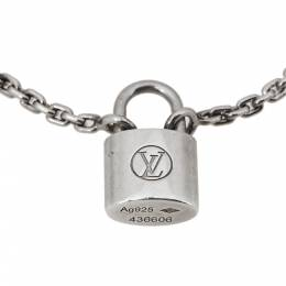 Louis Vuitton Lockit Silver Chain Link Bracelet 360061
