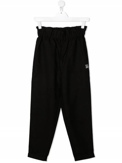 DKNY Kids TEEN logo-patch casual trousers D34A02 - 1