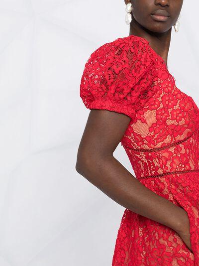 Self-Portrait платье мини с цветочной вышивкой RS21035 - 5
