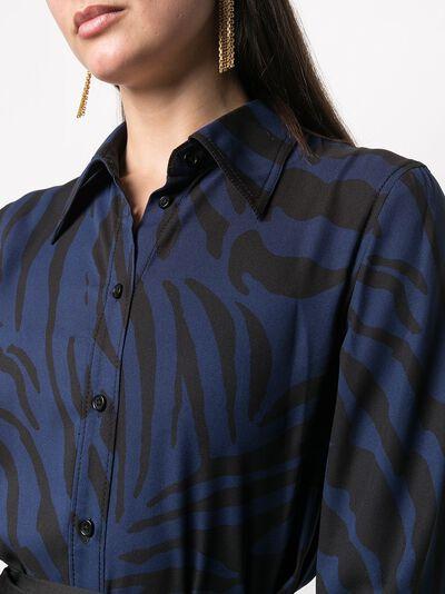 Dvf Diane Von Furstenberg рубашка Samson с тигровым принтом 15629DVF - 5