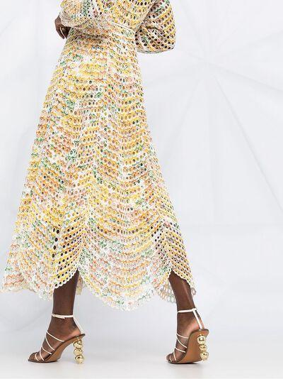 Zimmermann длинное платье Poppy с люверсами 9836DPOP - 5
