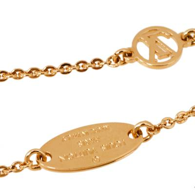 Louis Vuitton Lady Lucky Key Supple Crystal Gold Tone Bracelet 360094 - 4