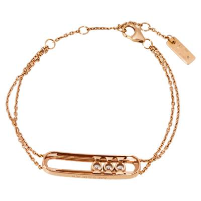 Messika Move Classic Diamond 18K Rose Gold Bracelet 359847 - 2