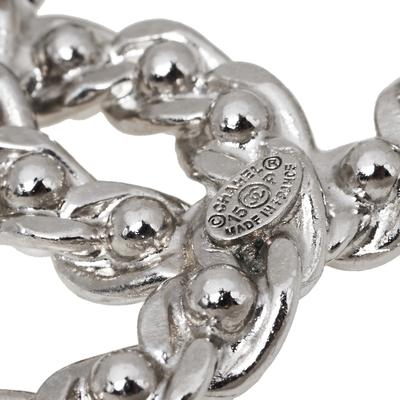 Chanel CC Faux Pearl Silver Tone Pin Brooch 360123 - 2