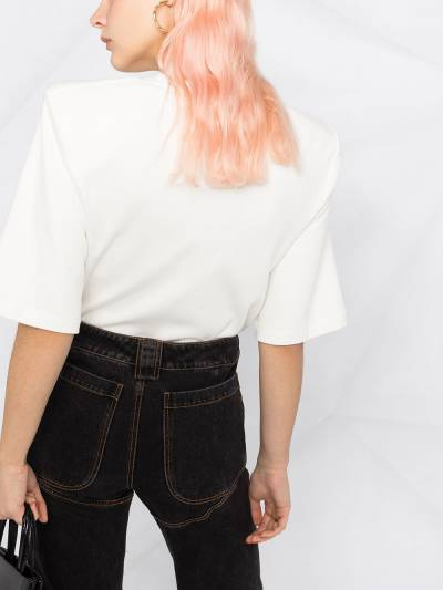 Off-White SHOULDER PADS T-SHIRT WHITE BLACK OWAD142R21FAB0010110 - 3