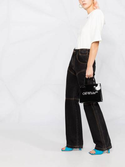 Off-White SHOULDER PADS T-SHIRT WHITE BLACK OWAD142R21FAB0010110 - 4