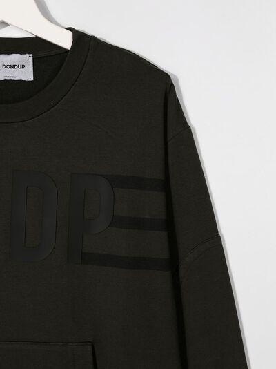 Dondup Kids толстовка с логотипом и окантовкой в рубчик BF073FY0002BZA53 - 3