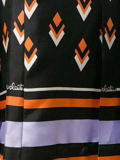 Valentino плиссированная юбка с геометричным принтом UB3RA6F25LB - 5