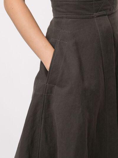 Lemaire расклешенная юбка миди с завышенной талией W203SK254LF280 - 5