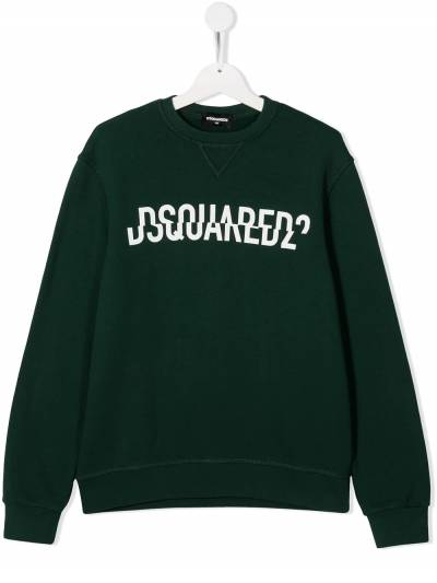 Dsquared2 Kids TEEN split logo-print sweatshirt DQ0475D002G - 1