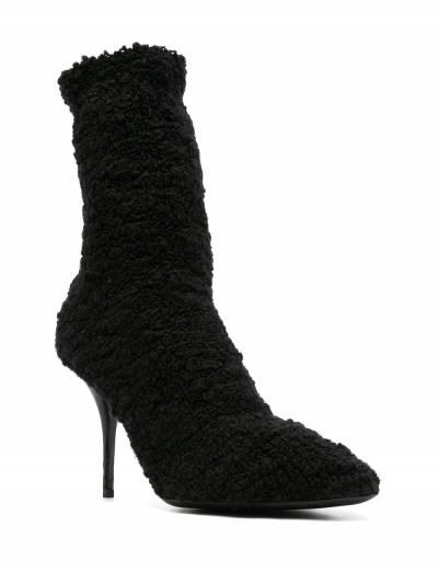 Dolce&Gabbana shearling stiletto heel boots CT0729A8M46 - 2