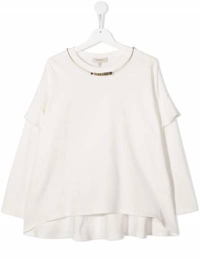 Twin-Set Kids TEEN ruffled T-shirt 202GJ2471 - 1