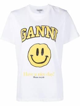 Ganni футболка с логотипом T2731
