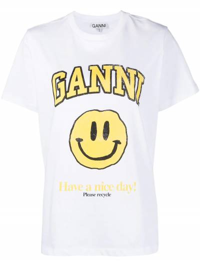 Ganni футболка с логотипом T2731 - 1