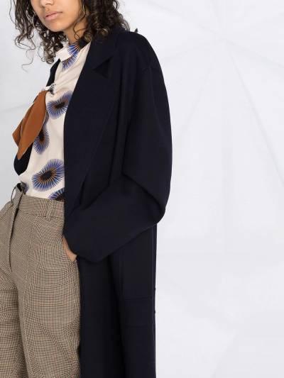 Stella McCartney double-breasted oversized wool coat 602900SPB05 - 3