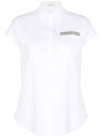 Brunello Cucinelli рубашка с короткими рукавами и блестками M0091MO336 - 1