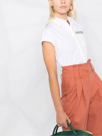 Brunello Cucinelli рубашка с короткими рукавами и блестками M0091MO336 - 5