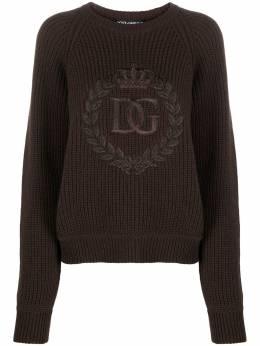 Dolce&Gabbana джемпер с вышитым логотипом FX202ZJAW4L