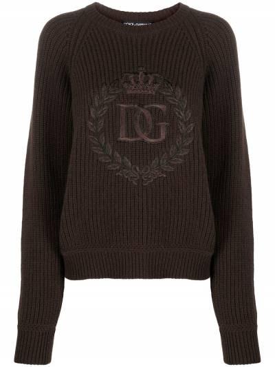 Dolce&Gabbana джемпер с вышитым логотипом FX202ZJAW4L - 1