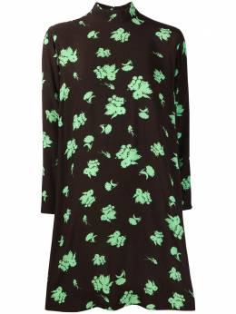 Ganni креповое платье мини с цветочным принтом F5410