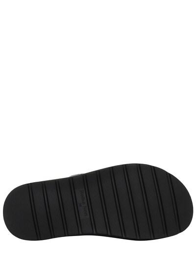 30mm Croc Embossed Leather Flat Sandals Reike Nen 73IX76011-QkxBQ0s1 - 4