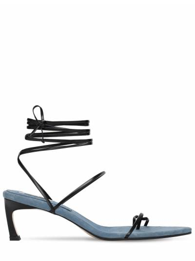 60mm Leather Lace-up Sandals Reike Nen 73IX76007-QkxBQ0svQkxVRQ2 - 1
