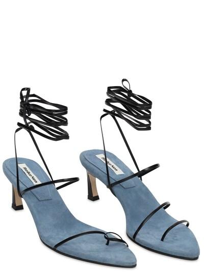 60mm Leather Lace-up Sandals Reike Nen 73IX76007-QkxBQ0svQkxVRQ2 - 2