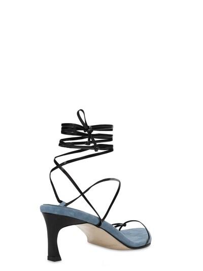 60mm Leather Lace-up Sandals Reike Nen 73IX76007-QkxBQ0svQkxVRQ2 - 3