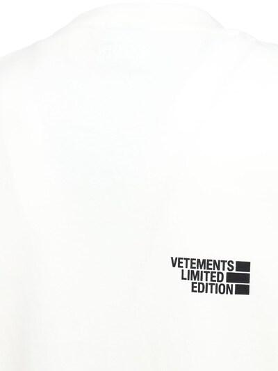 Хлопковая Футболка С Логотипом Vetements 73ILEY001-V0hJVEU1 - 5