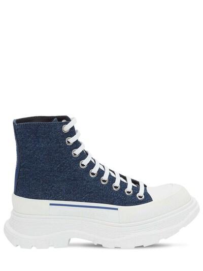 Кожаные Ботинки-комбат 45mm Alexander McQueen 73IG14023-NDE3Nw2 - 1